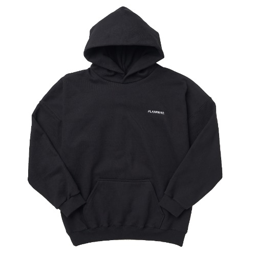 [PLAN9NINE] STICH LOGO HOODIE BLACK