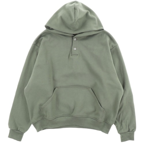 [FEAR OF GOD] EVERYDAY HENLEY HOODIE / ARMY GRN