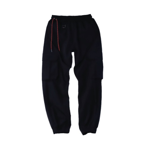 [PLAN9NINE] SIDE STRAP JOGGER PANT BLACK