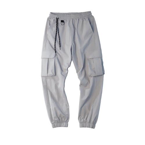 [PLAN9NINE] SIDE STRAP JOGGER PANT GRAY