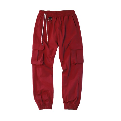 [PLAN9NINE] SIDE STRAP JOGGER PANT BURGUNDY