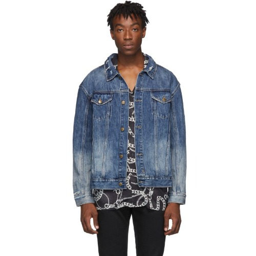 [KSUBI] Blue Denim No Rules Fancy Dollar Oh G Jacket