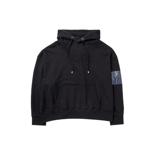 [PLAN9NINE] ARM BAND HOODIE BLACK
