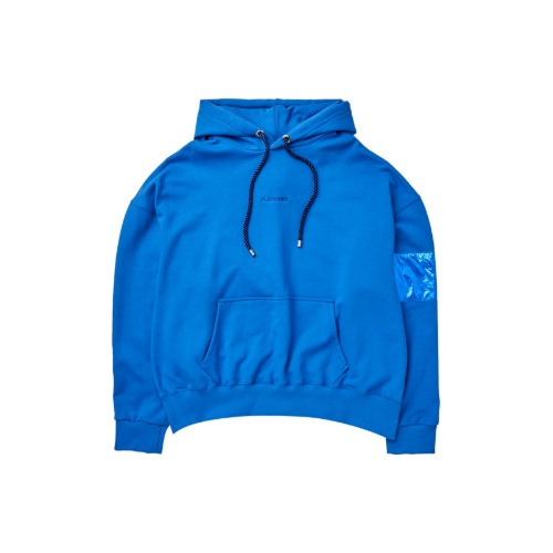[PLAN9NINE] ARM BAND HOODIE BLUE