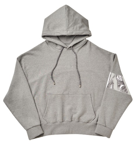 [PLAN9NINE] ARM BAND HOODIE GRAY