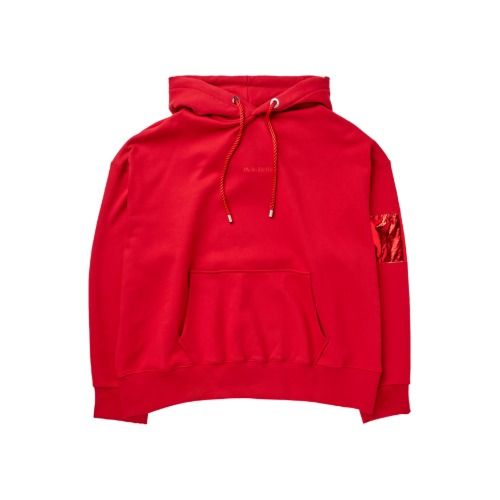[PLAN9NINE] ARM BAND HOODIE RED