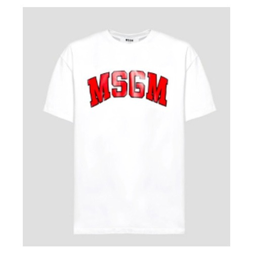 [MSGM] COLLEGE LOGO SCOOP NECK T-SHIRTS
