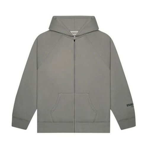 [FOG ESSENTIAL] ESSENTIALS 3D Sillicon ZIP UP HOODIE