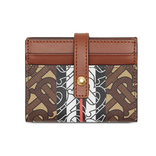 [BURBERRY] monogram button card case
