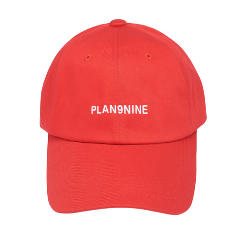 [PLAN9NINE] LOGO PRINT BALL CAP RED