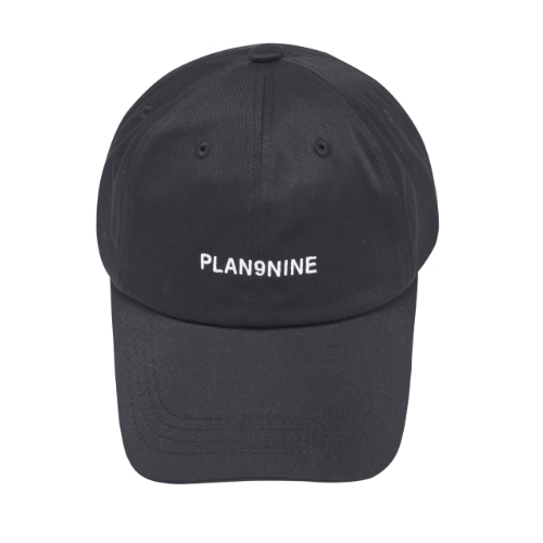 [PLAN9NINE] LOGO PRINT BALL CAP BLACK