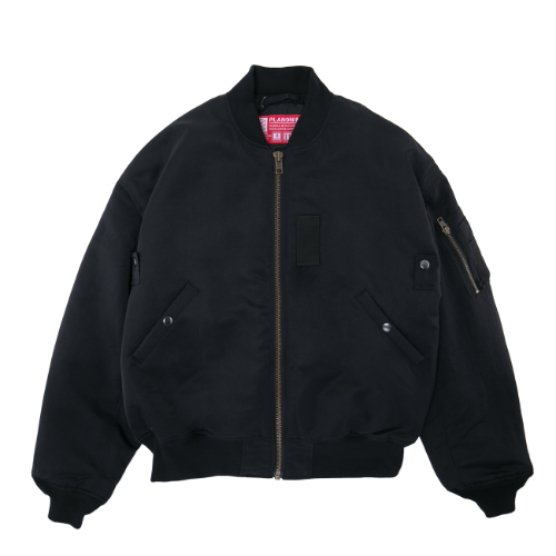 [PLAN9NINE] DYEING MA-1 FLIGHT JACKET BLACK