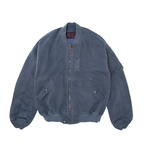 [PLAN9NINE] DYEING L2B FLIGHT JACKET BLUE