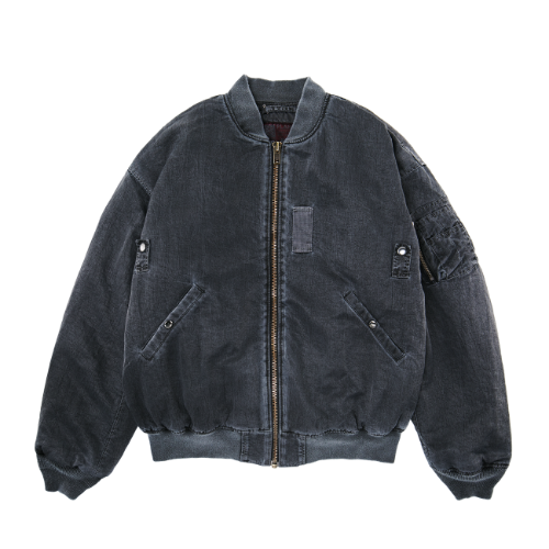 [PLAN9NINE] DYEING MA-1 FLIGHT JACKET DARK GRAY
