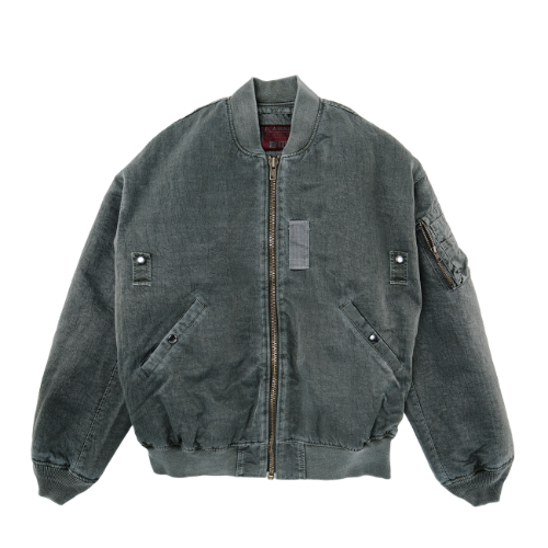 [PLAN9NINE] DYEING MA-1 FLIGHT JACKET KAHKI